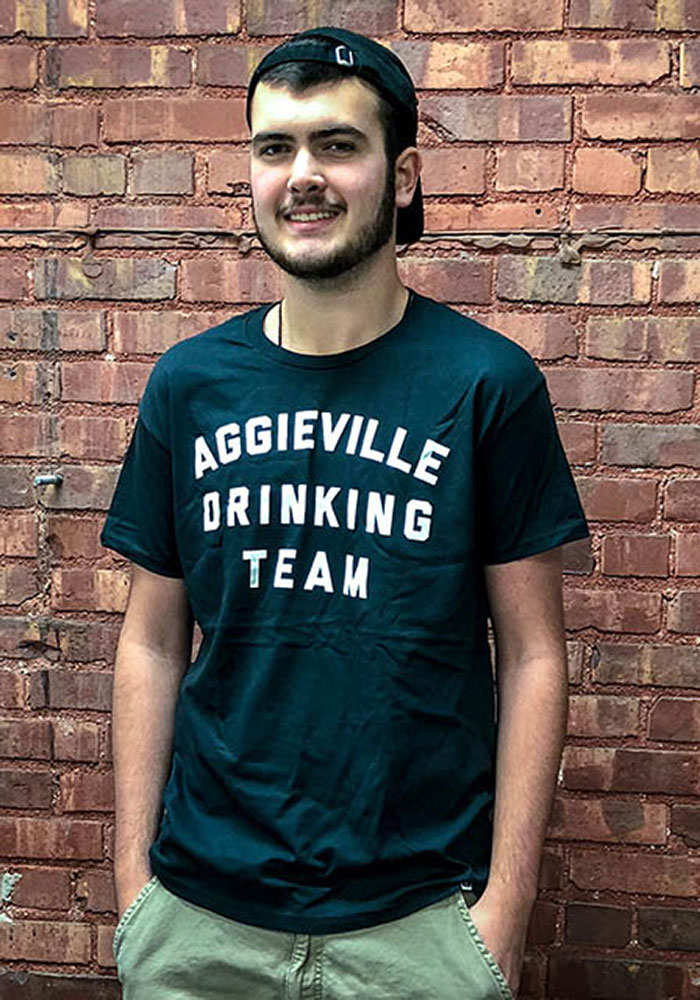 Rally Aggieville Black Drinking Team Fashion Tee - Image 2
