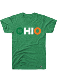 Ohio Green Irish Flag State Name Short Sleeve T Shirt