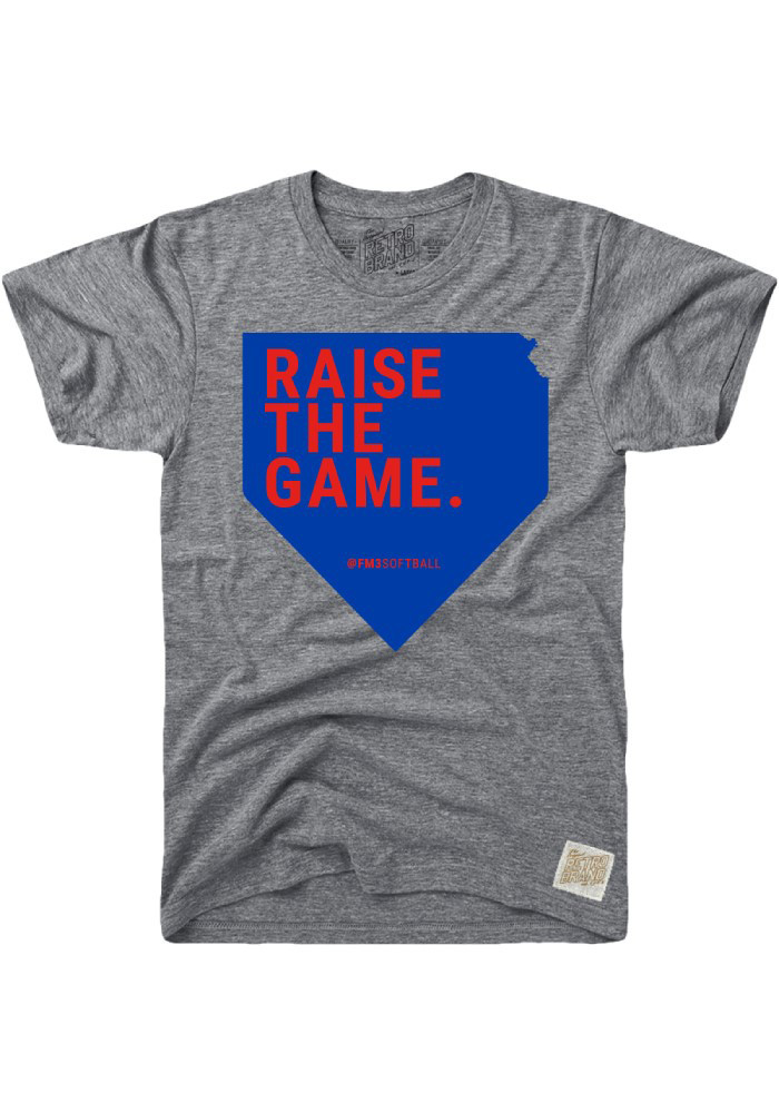 Frank Mason III & Friends Charity Softball Game Grey Raise the Game Short Sleeve Fashion T Shirt - Image 1