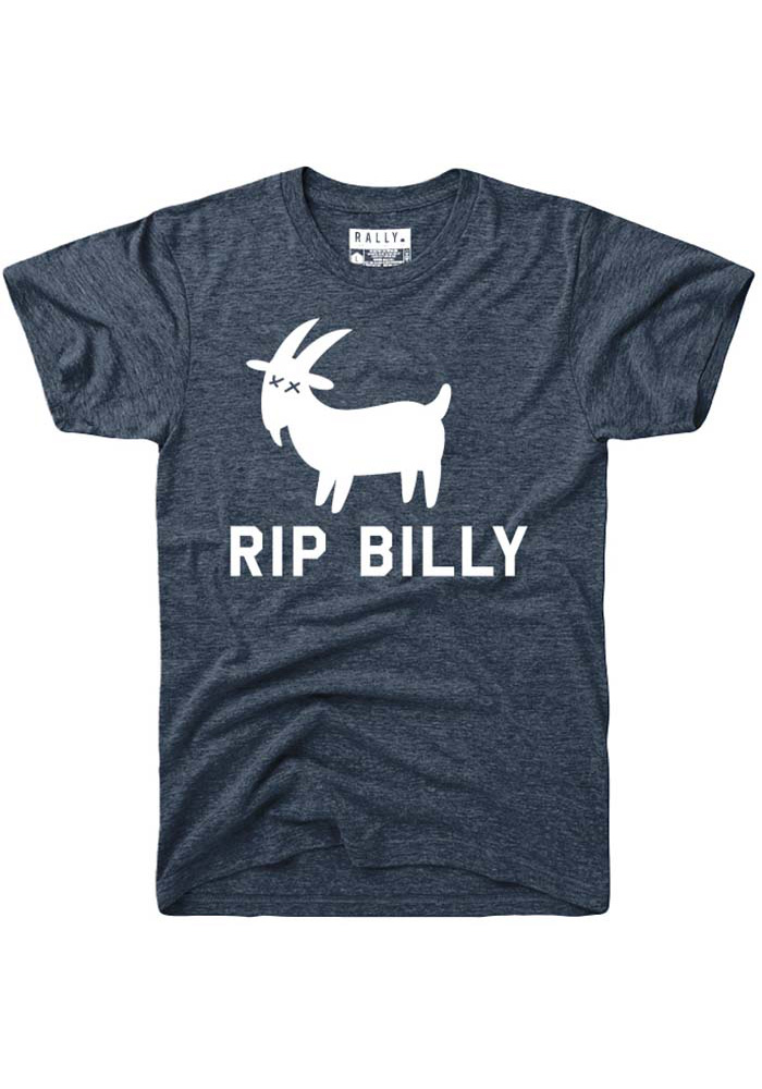 Rally Chicago Navy Blue RIP Billy Short Sleeve T Shirt - Image 1