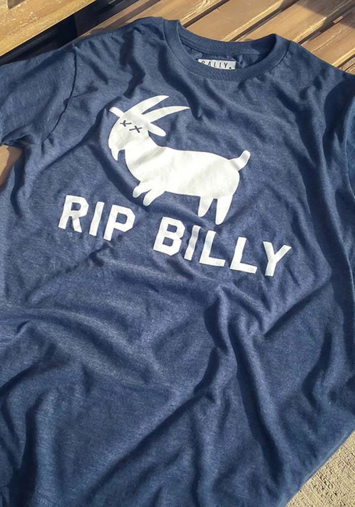 Rally Chicago Navy Blue RIP Billy Short Sleeve T Shirt - Image 2