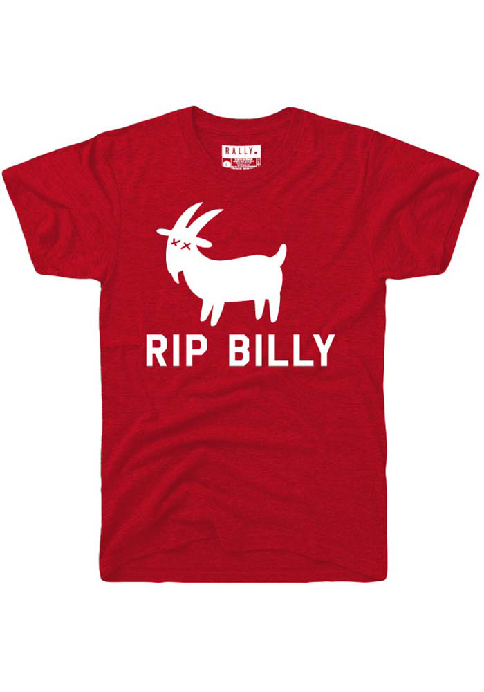 Rally Chicago Red RIP Billy Short Sleeve T Shirt - Image 1