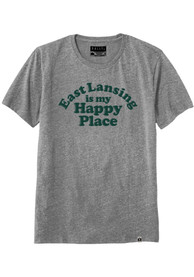 Rally Michigan Grey East Lansing Is My Happy Place Short Sleeve T Shirt