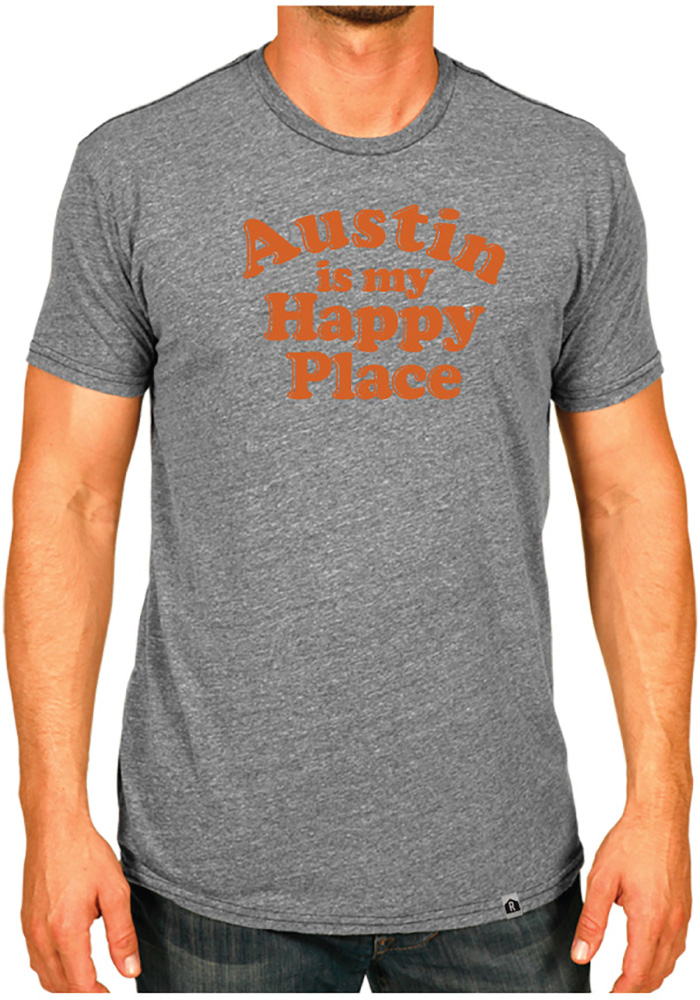 Rally Texas Grey Austin Is My Happy Place Short Sleeve T Shirt - Image 2