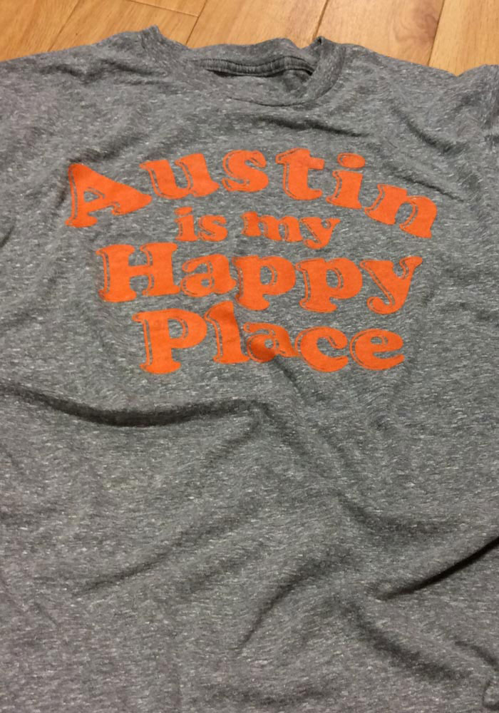 Rally Texas Grey Austin Is My Happy Place Short Sleeve T Shirt - Image 3