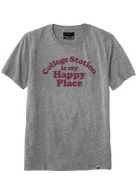 Rally Texas Grey College Station is my Happy Place Short Sleeve T Shirt