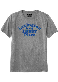 Rally Kentucky Grey Lexington Is My Happy Place Short Sleeve T Shirt