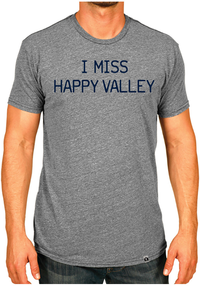 Rally Pennsylvania Grey I Miss Happy Valley Short Sleeve Fashion T Shirt - Image 2
