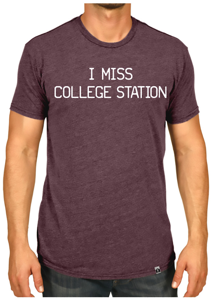 Rally Texas Maroon I Miss College Station Short Sleeve T Shirt - Image 2