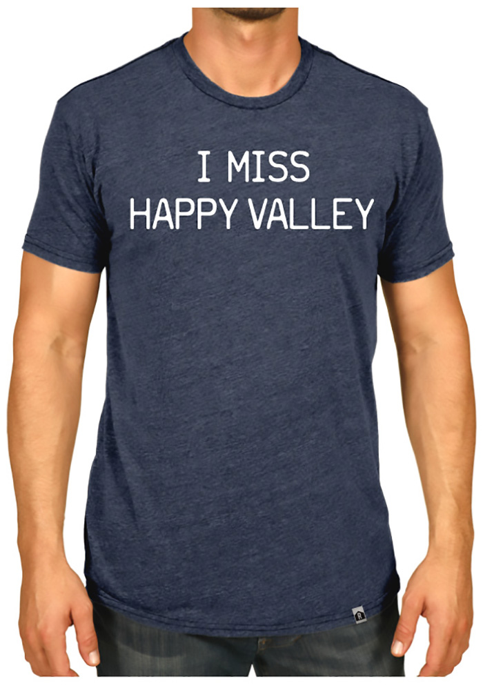 Rally Pennsylvania Navy Blue I Miss Happy Valley Short Sleeve Fashion T Shirt - Image 2