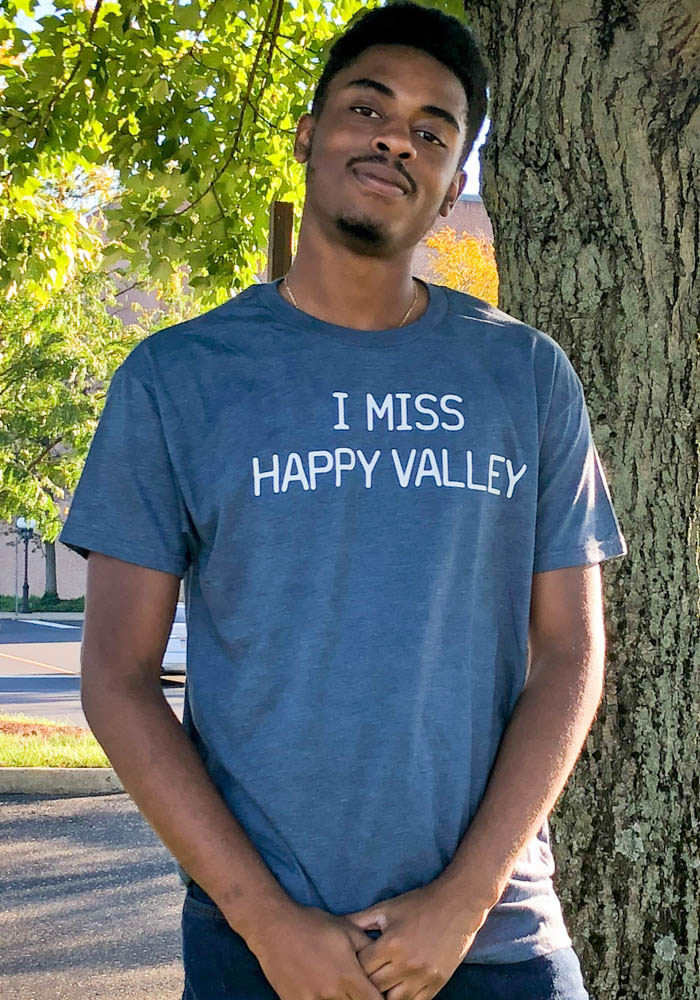 Rally Pennsylvania Navy Blue I Miss Happy Valley Short Sleeve Fashion T Shirt - Image 3