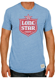 Original Retro Brand Lone Star Light Blue Logo Short Sleeve T Shirt