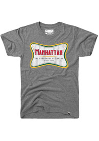 Rally Manhattan Grey The Champagne Of Kansas Short Sleeve T Shirt