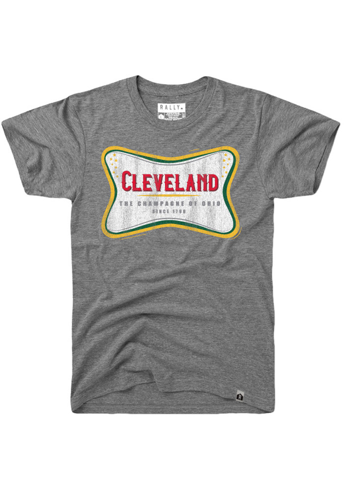 Rally Cleveland Grey The Champagne Of Ohio Short Sleeve T Shirt - Image 1