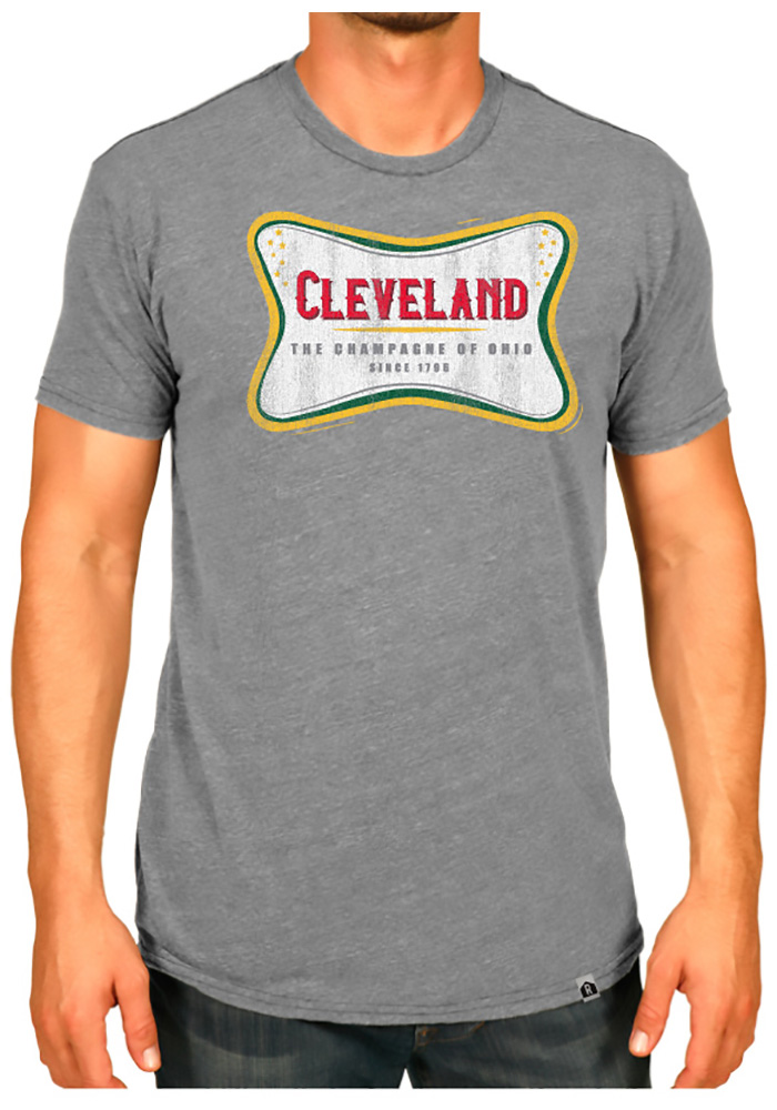 Rally Cleveland Grey The Champagne Of Ohio Short Sleeve T Shirt - Image 2