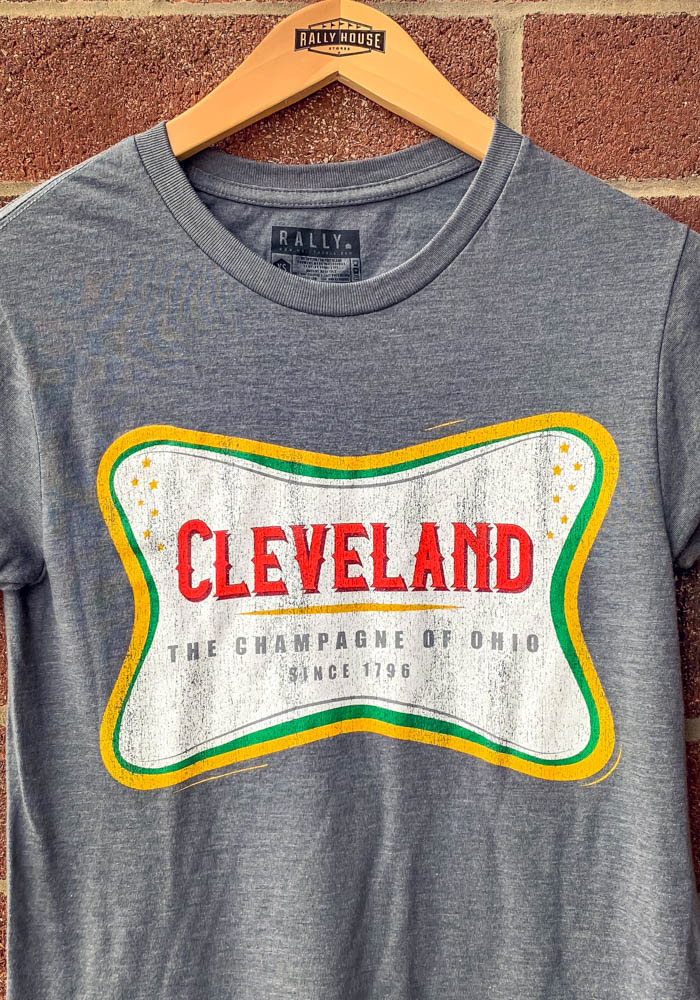 Rally Cleveland Grey The Champagne Of Ohio Short Sleeve T Shirt - Image 3