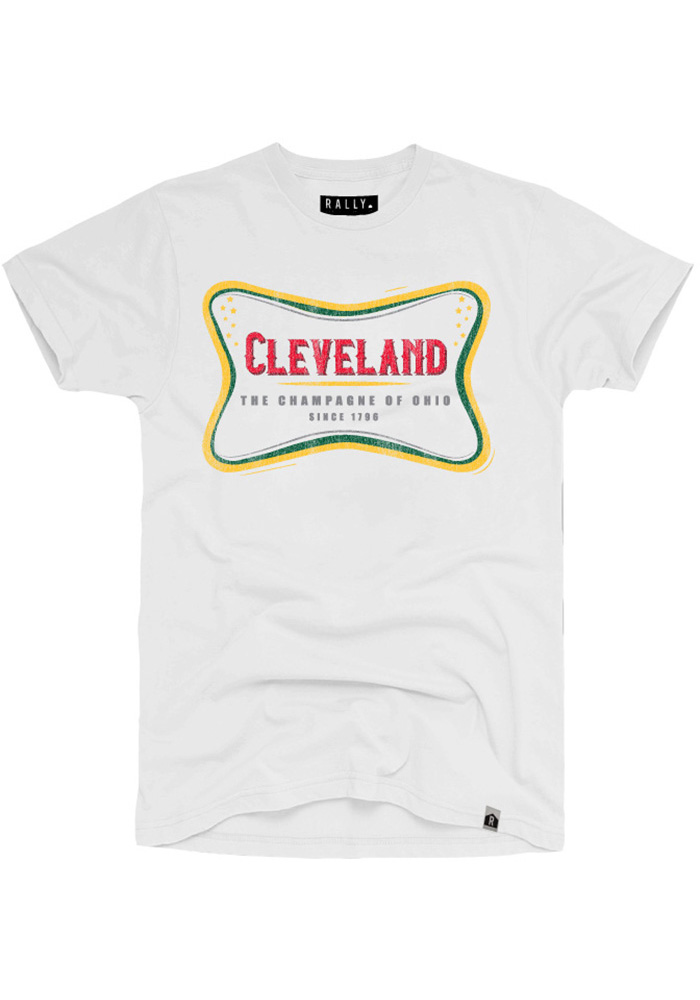 Rally Cleveland White The Champagne Of Ohio Short Sleeve T Shirt - Image 1