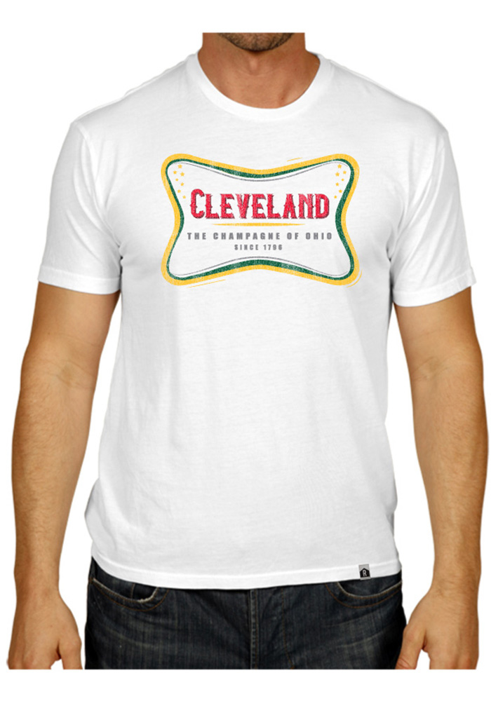 Rally Cleveland White The Champagne Of Ohio Short Sleeve T Shirt - Image 2