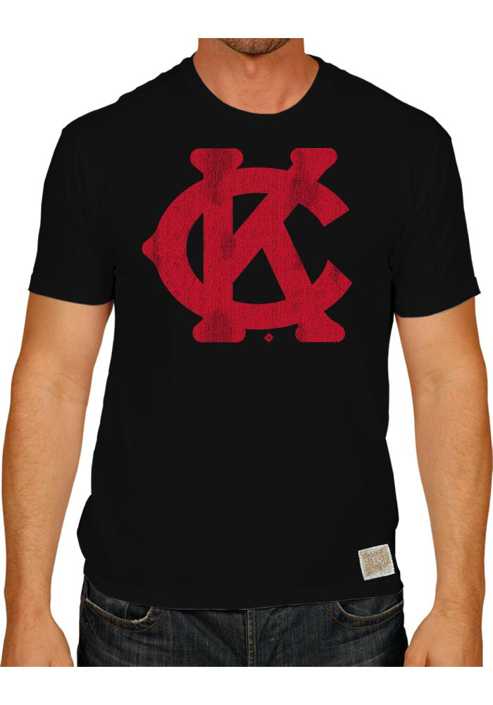 Original Retro Brand Kansas City Monarchs Black Monarch KC Short Sleeve Fashion T Shirt - Image 1