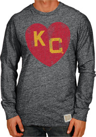 Original Retro Brand Kansas City Monarchs Black Heart Fashion Tee
