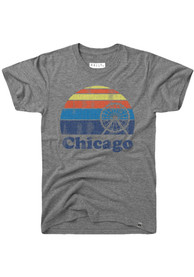 Rally Chicago Grey Sunset Navy Pier Short Sleeve T Shirt