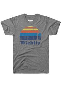 Rally Wichita Grey Sunset Keeper of the Plains Short Sleeve T Shirt