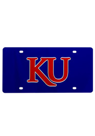 Kansas Jayhawks Red KU Car Accessory License Plate