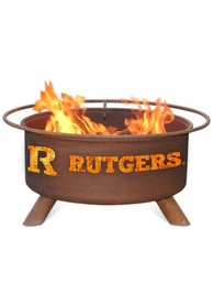 Rutgers Scarlet Knights 30x16 Fire Pit
