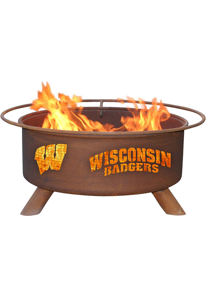 Wisconsin Badgers 30x16 Fire Pit - Image 1