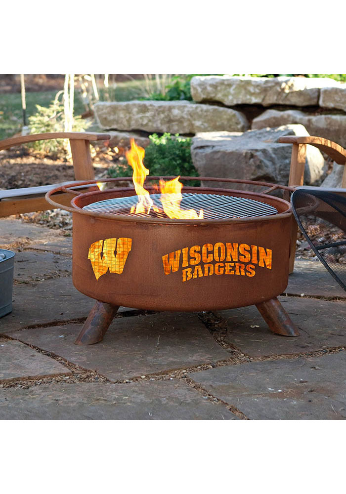 Wisconsin Badgers 30x16 Fire Pit - Image 2