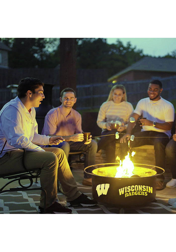 Wisconsin Badgers 30x16 Fire Pit - Image 3