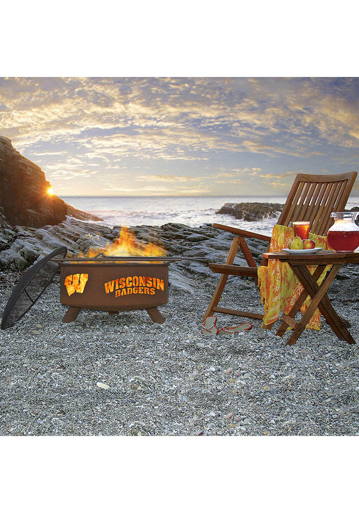Wisconsin Badgers 30x16 Fire Pit - Image 4