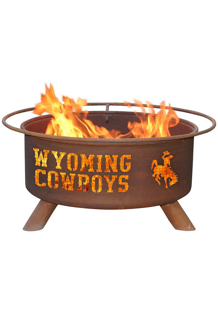 Wyoming Cowboys 30x16 Fire Pit - Image 1