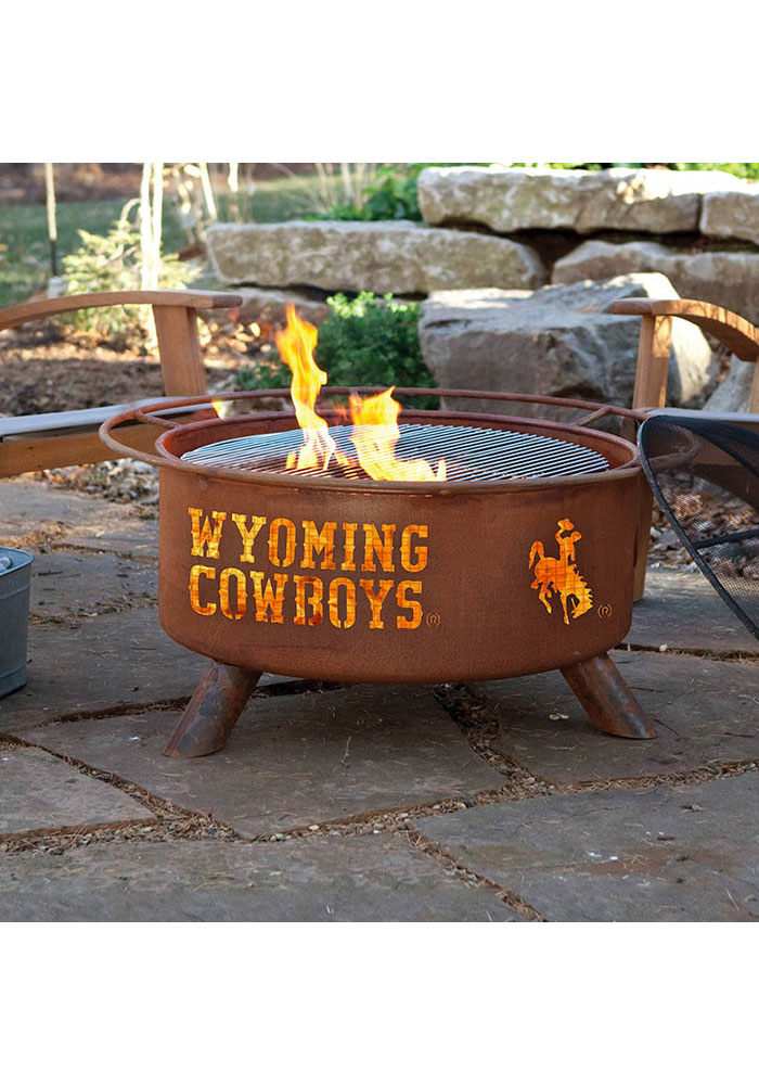 Wyoming Cowboys 30x16 Fire Pit - Image 2