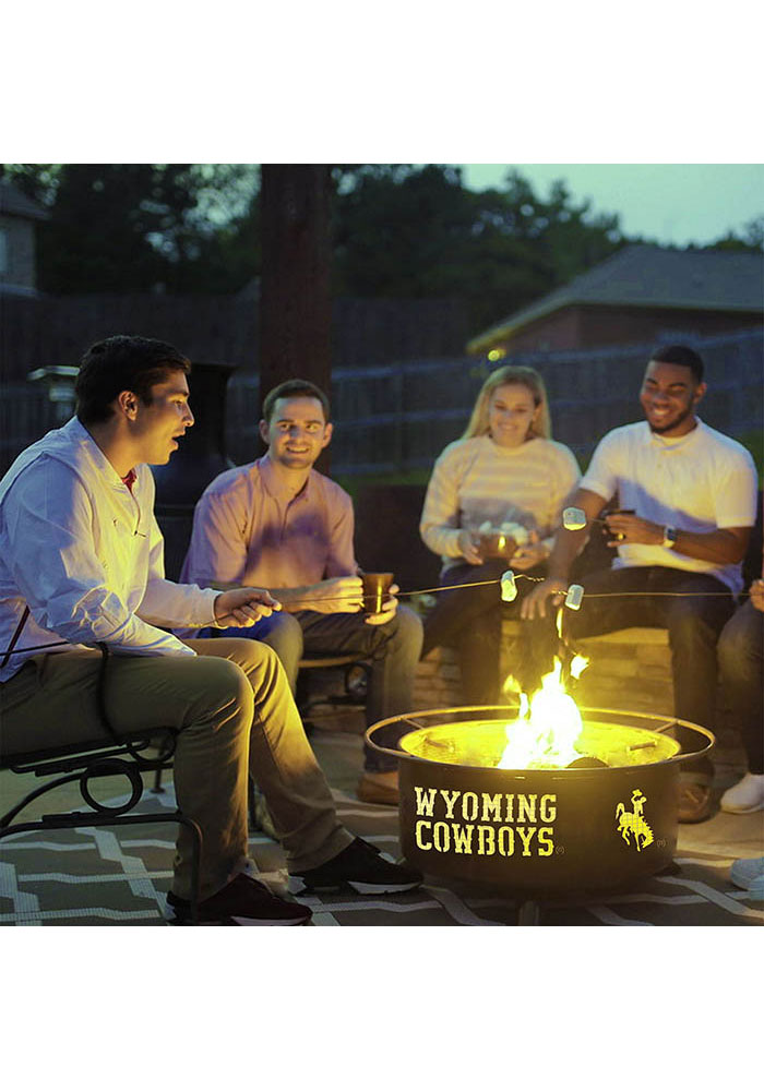 Wyoming Cowboys 30x16 Fire Pit - Image 3