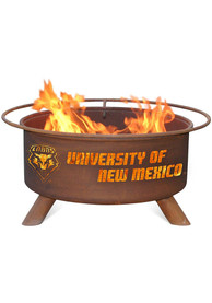 New Mexico Lobos 30x16 Fire Pit