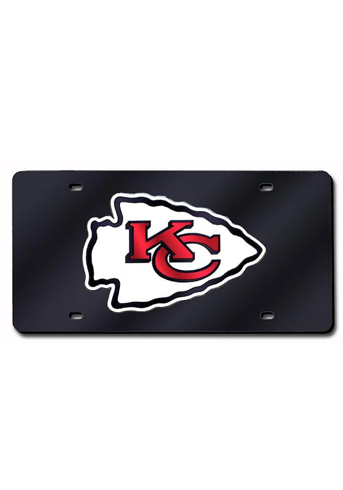 Kansas City Chiefs Team Logo Black Car Accessory License Plate - Image 1