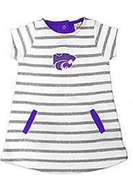 K-State Wildcats Toddler Girls Ivory French Terry Dresses