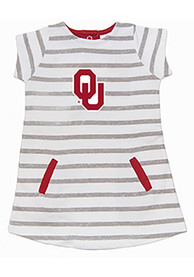Oklahoma Sooners Toddler Girls Ivory French Terry Dresses
