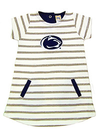 Penn State Nittany Lions Toddler Girls Ivory French Terry Dresses
