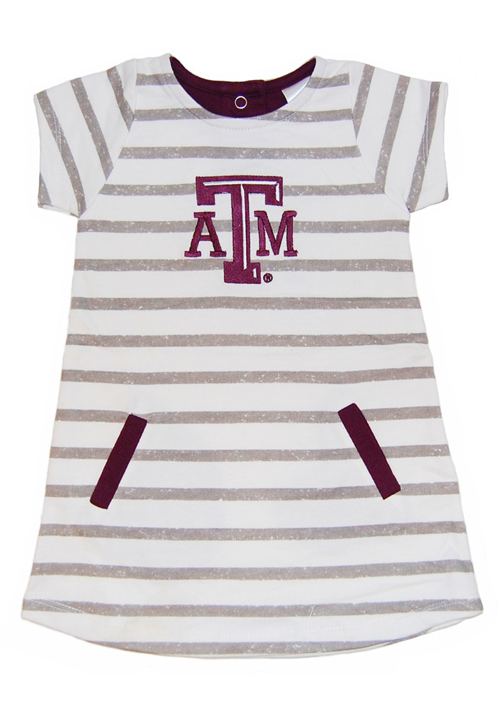 Texas A&M Aggies Toddler Girls Red French Terry Short Sleeve Dresses - Image 1