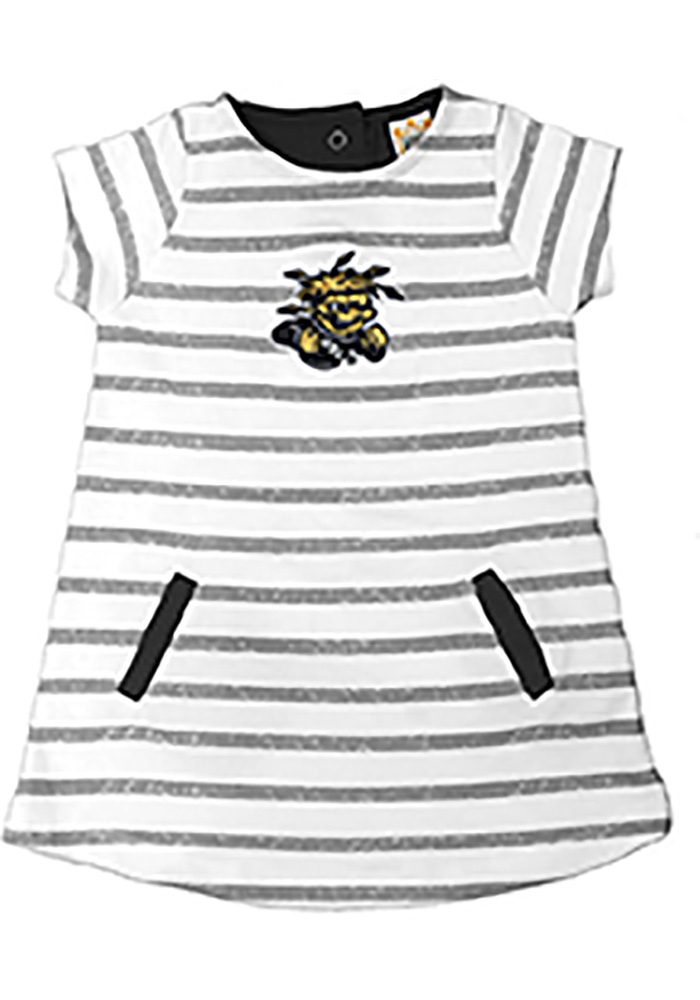 Wichita State Shockers Toddler Girls Ivory French Terry Short Sleeve Dresses - Image 1