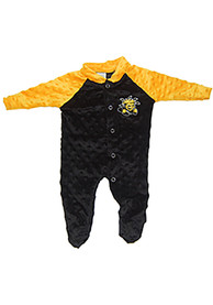 Wichita State Shockers Baby Two Tone Cuddle Bubble Black Two Tone Cuddle Bubble One Piece Pajamas