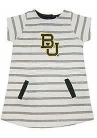 Baylor Bears Toddler Girls Ivory French Terry Dresses