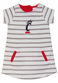 Cincinnati Bearcats Toddler Girls Red French Terry Dresses