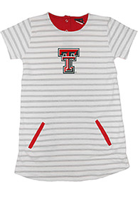 Texas Tech Red Raiders Toddler Girls Red French Terry Dresses