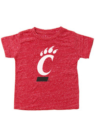 Cincinnati Bearcats Youth Red Knobby Primary Logo T-Shirt