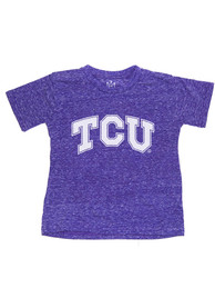 TCU Horned Frogs Youth Purple Knobby Primary Logo T-Shirt