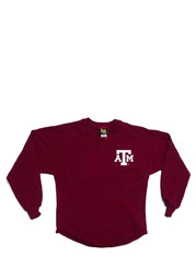 Texas A&M Girls Maroon Spirit Jersey Long Sleeve T-shirt