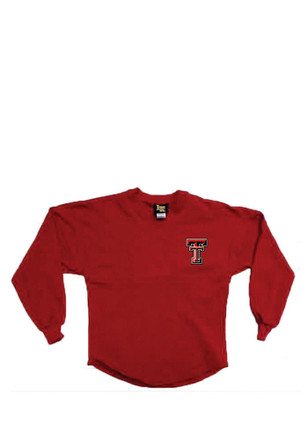 Texas Tech Red Raiders Girls Red Spirit Jersey Long Sleeve T-shirt